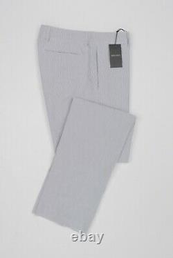 New 750$ GIORGIO ARMANI Black Label Pant Trousers Striped Cotton 36 US / 52 EU