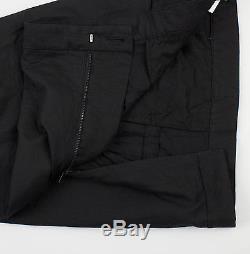 New. ALEXANDRE PLOKHOV Black Cotton Casual Pants Size 52/36 $550