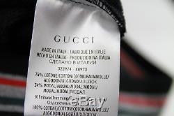 New Authentic Gucci Men's Black Sweat Pants withweb Detail 322974 1283