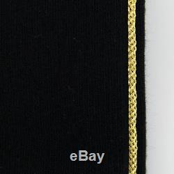 New BALMAIN PARIS Men's Black Cotton Fleece Biker Jogger Pants Size Large $1080