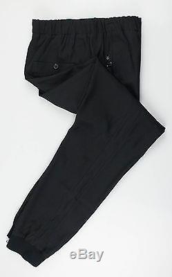 New. LANVIN Black Twill Viscose Blend Sweatpants Pants Size 48/32 $1220