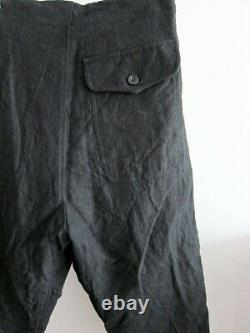 New Paul Harnden Shoemakers Cropped Drawstring Wool/linen Trousers (black, M)