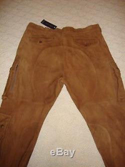 New Polo Ralph Lauren Suede Men's Riding Britches / Jodhpurs / Cargo Pants