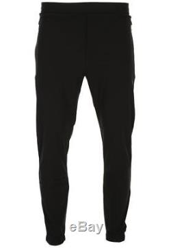 New Prada Black Stretch Red Logo Stripe Track Sport Casual Pants S Small
