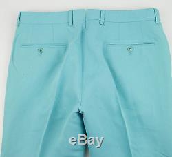 New. RALPH LAUREN BLACK LABEL Blue Linen Blend Casual Pants 48/32 Waist 33 $395