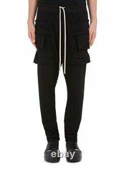 New Rick Owens Drkshdw Creatch Cargo Jersey Sweatpants (black, Small)
