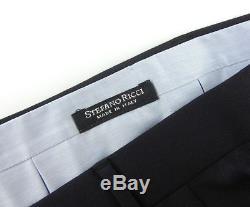 New STEFANO RICCI Black Super 150's Wool Solid Dress Pants 54 / 38 NWT $1150