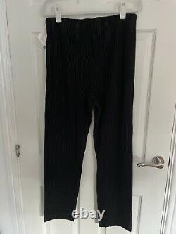 New With Tags Issey Miyake Homme Plisse Black Size 3 Trousers
