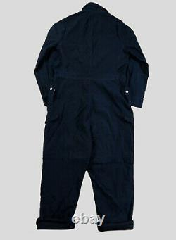 Nigel Cabourn Military Coverall in Black Navy Overalls Dungarees Size 44
