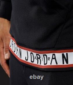 Nike Air Jordan HBR Tracksuit Sz XL Black White Crimson New AR2252 010