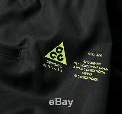 Nike NikeLab ACG Cargo Pants Black Volt New Men's 2XL AQ3524-010