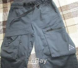 Nike Nikelab Acg Cargo Pant Woven Acronym Unisex Xs Black $180rp Rare