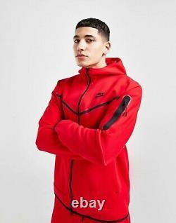 Nike Sportwear Tech Fleece Windrunner Tracksuit Sz L University Red/Black CU489