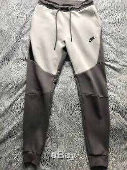 Nike Tech Fleece Tracksuit Hoodie Jogging Bottoms Vast Grey/Gunsmoke/Black Small
