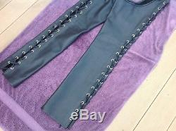 Northbound Leather Lace Up Zippered Chaps Mens Medium Mr S Rob 665 Fetters