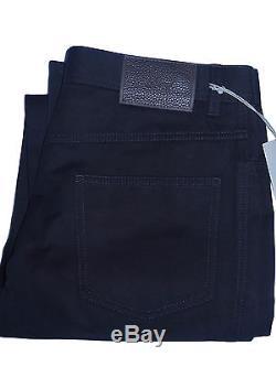 Nwt BRIONI Italy Crans Mens Black Cotton Twill Pants Slacks Trousers 32 New