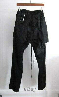 Nwt Julius'knives' Combination Drawstring Pants $900 (black, 4 Jp L-xl)
