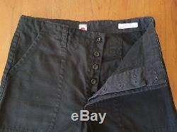 Old Town Clothing Orford Trousers Black Canvas 32