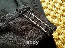 OrSlow Black French Work Pant tag 2 Made in Japan