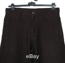 Original Comme Des Garcons Homme Plus Black Men Loose Pants in size L