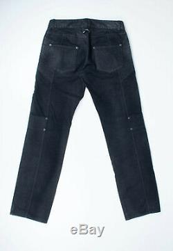 Original Jean Paul Gaultier Biker Black Men Pants in size 31