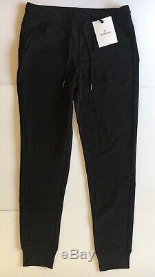 Original Moncler Men Black Sweatpants Joggers Size Large