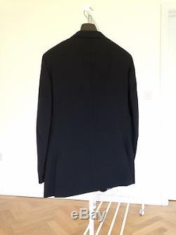 Ozwald Boateng Black Wool Trouser Suit UK 44R 38 Authentic
