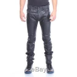 P-Thavar-Dest Diesel Leather Pants Black Men New Size 33