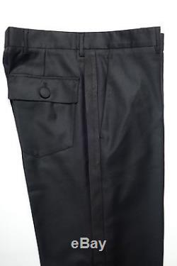b170f4d8 Prada Men's Fall 2014 Runway Black Wool Tuxedo Pants Trousers It46 ...
