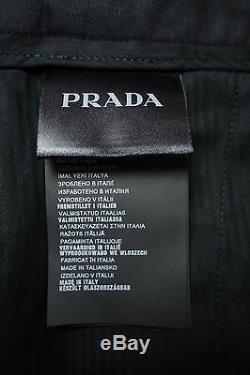 PRADA Men's Fall 2014 RUNWAY Black Wool Tuxedo Pants Trousers IT46/US30 NWT