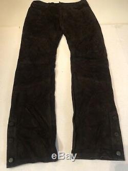Polo Ralph Lauren Black Label Mens Suede Leather Pants 32/34