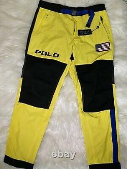 Polo Ralph Lauren Flag Alpine Ski Pants Sz L MSRP $298 Skier 92 Color Block Tech