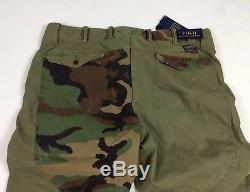 Polo Ralph Lauren Men Military Army Camo Patchwork Combat Surplus Cargo Pants