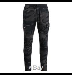 Polo Ralph Lauren Men Military US Army Camo Fleece Jogger Cargo Sweatpants Pants