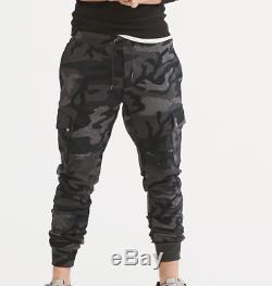 Polo Ralph Lauren Military US Army Camo Fleece Jogger Cargo Sweatpants Pants Men