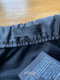 Prada 18 S/s Gabardine Nylon Adjust Strap Pants Grey Track Size 52 L
