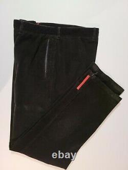 Prada Corduroy Pants 35 Black Italy