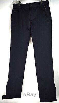 Prada Mens Pants Black Ankle Zip Straight Leg 30 Italy 4 Zipper Pockets