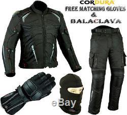 Pro Viz Mens Ce Armor Vent Motorbike / Motorcycle Textile Jacket Trousers Suit