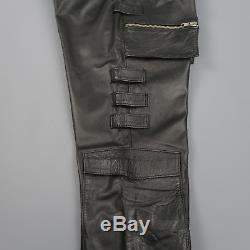 RAF SIMONS Autumn 1998 Radioactivity 32 Black Leather Cargo Pants