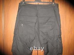 RARE Balmain X H&M black trousers 100% Wool Cargo Pants SIZE 31