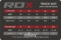 RDX Mens Tracksuit Zip Bottoms Tops Jogging SweatShirt Trouser Boxing Gym Sports