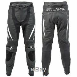 RICHA Piranha Motorcycle/Motorbike Trouser Black/White D3O Knee Armour