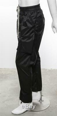 RICK OWEN DRKSHDW Mens Drawstring Nylon Drop-Crotch Pants Joggers Black M NEW