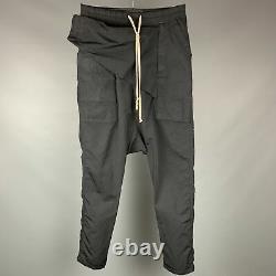 RICK OWENS DRKSHDW Size S 09 Black Cotton / Polyamide Drop-Crotch Casual Pants