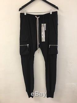 RICK OWENS Dirt SS 18 Cargo Zipper Pants Jogger Sz 56 Mens $995