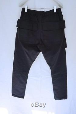 RICK OWENS Drkshdw F/W16 Men's Black Creatch Cargo Pants Trousers Sz M Italy