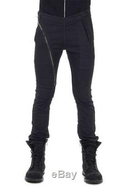 RICK OWENS Men Black Stretch Cotton AIRCUT Trousers Pants Made in Italy New