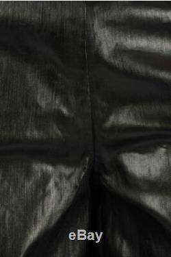 RICK OWENS men Trousers BLACK RUBBER Denim VISCONTIS PANTS Size 48 it Black 4