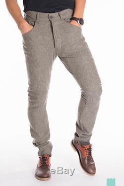 RRP 422 DIESEL BLACK GOLD W30 Men's Linen & Wool Blend Trousers From POPPRI